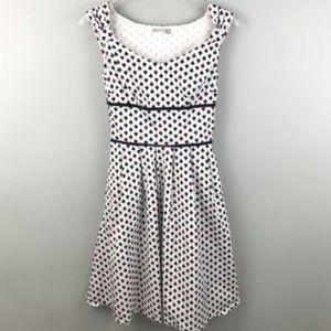eShakti Ace Of Spades Retro Lined A-Line Dress XS